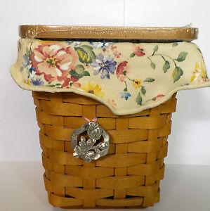 Longaberger-Horizon-of-Hope-2004-Combo-basket-w-lid-protector-liner-cloth