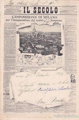 * MILANO - Giornale Il Secolo, Esposizione e Traforo Sempione Ed.Guggenheim 1902