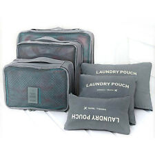 6pcs Waterproof Travel Storage Bags Clothes Ng Cube Luggage Organizer Pouch