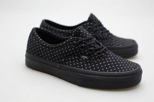 e5a1bf74b767 Image is loading Vans-Women-Authentic-black-polka-dot-VN048ALUS