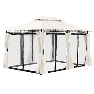 low priced 86190 ccb92 Details zu Pavillon 3x4 Meter Partyzelt Gartenzelt Gartenpavillon mit  Moskitonetz Beige