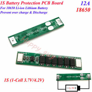 1S 2A 3.7V 4.2V Li-ion 18650 Battery Cell BMS Circuit Protection PCB Board Round