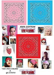 Hav-A-Hank Motivo Cachemire Cotone Bandana Sciarpa Fascia per ... 0e5795f43dd0