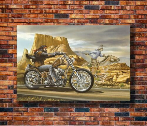 Hot Gift C1081 Art Ghost Rider David Mann Cult Bike 20x30 24x36in Poster