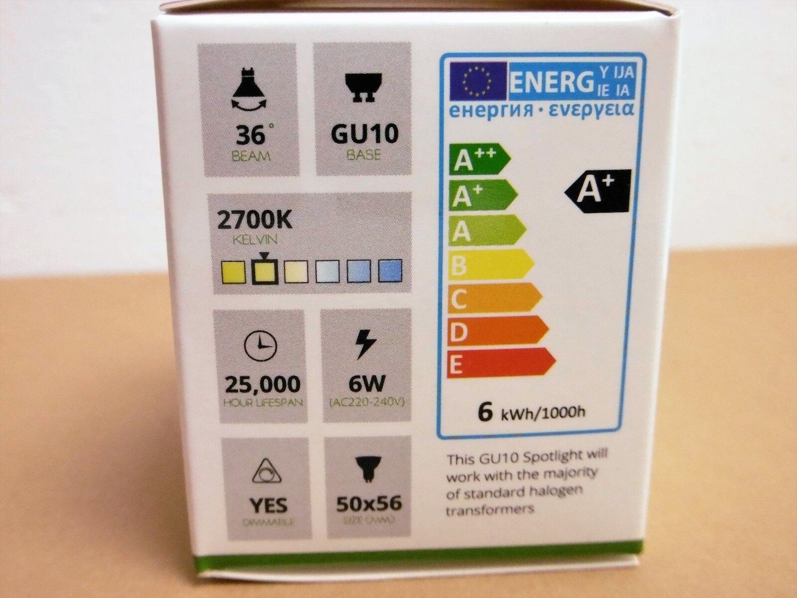 Lot 5 Ampoules led GU10 GU10 GU10 6w/60w 2700k blanc/chaud  420lm DIMMABLE | En Ligne  f41eb6