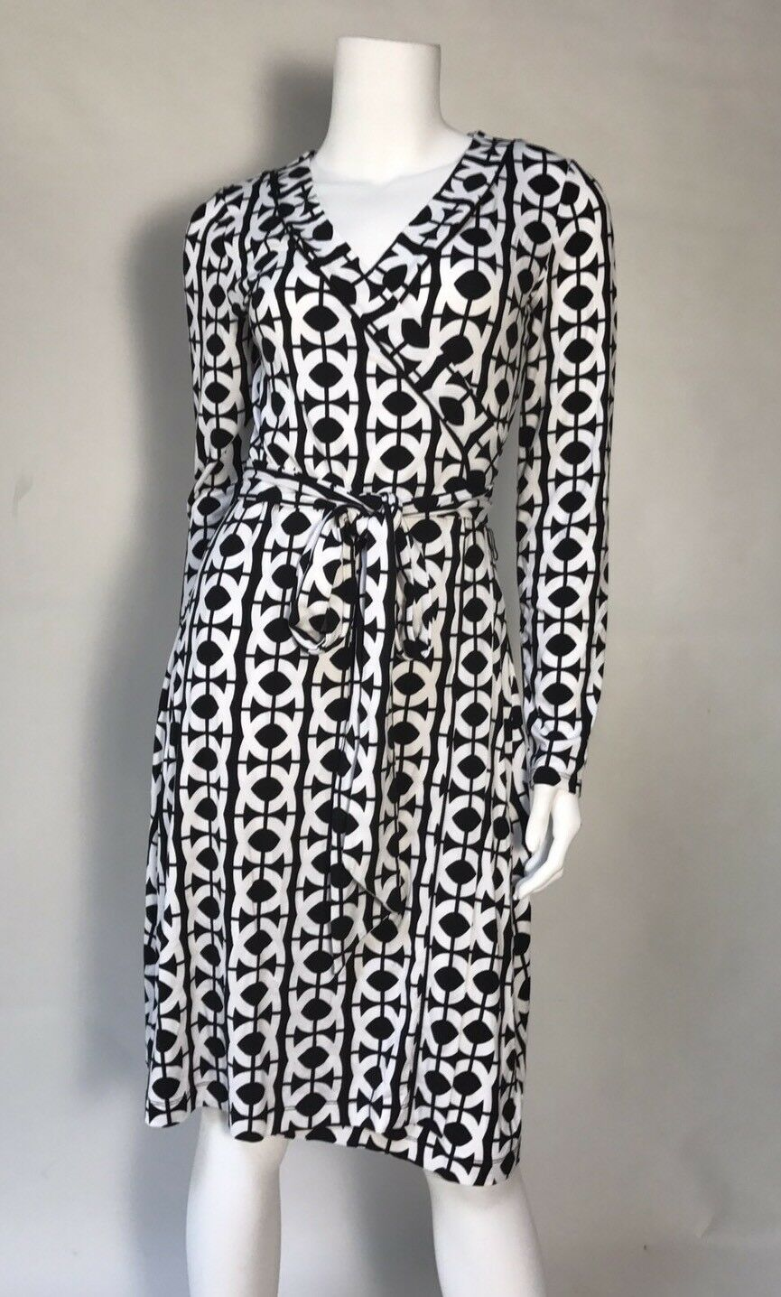 Preowned Banana Republic Wrap Dress SZ S Stretch Long Sleeves