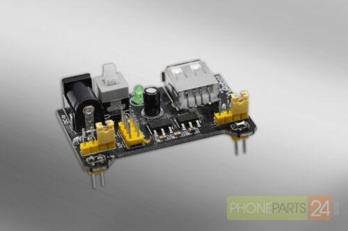 Breadboard Power Supply MB102 3.3V 5V für Arduino Netzteil
