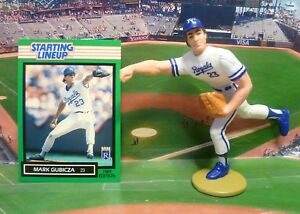 1989 MARK GUBICZA - Starting Lineup Baseball Figure & Card - KANSAS CITY ROYALS
