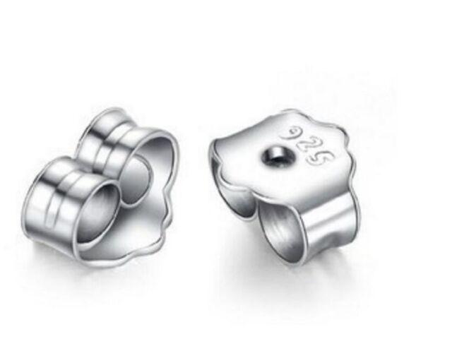 925 Sterling Silver Earring Backs Stoppers Usa Er