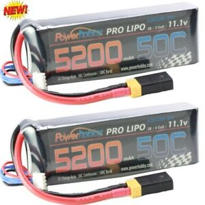 Powerhobby-3s-5200mah-50c-Bateria-Lipo-W-Traxxas-Adaptador-de-enchufe-2-Revo-E
