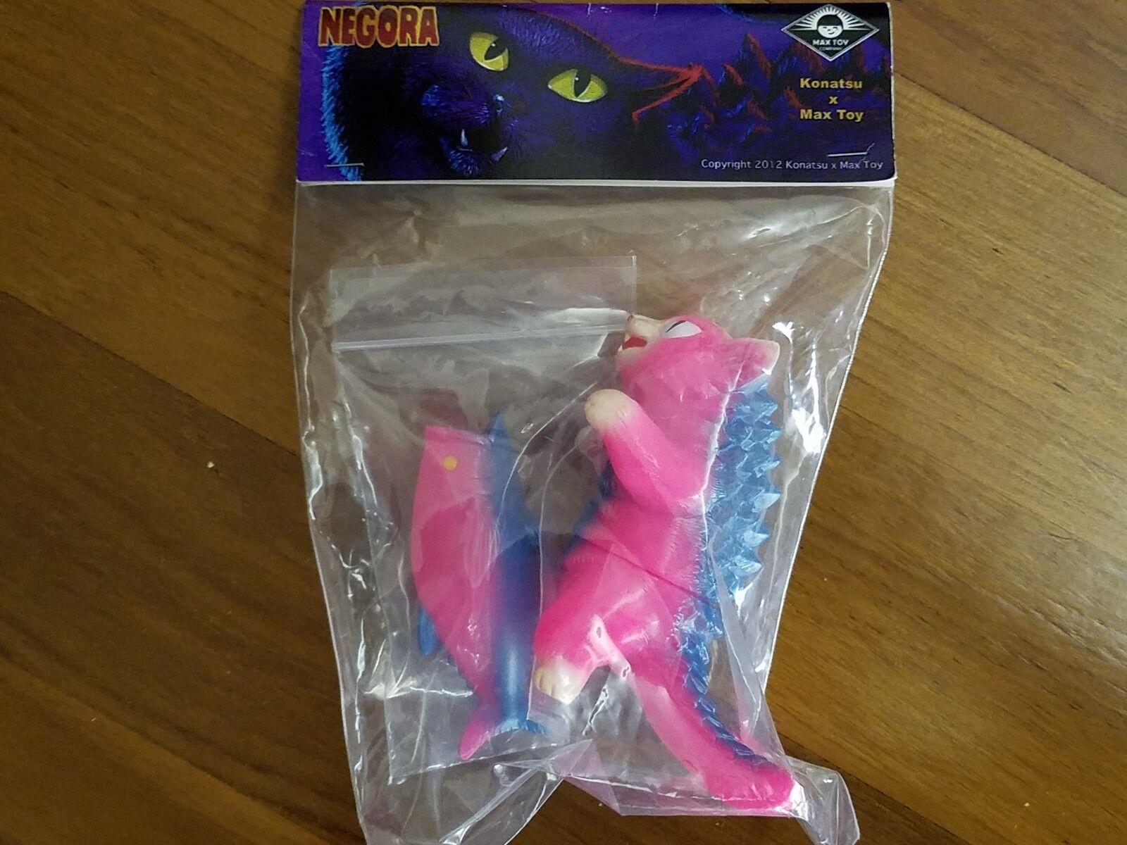 SALE Konatsuya Pink Negora Konatsu Max Toy Fish Sofubi Vinyl Figure Kaiju