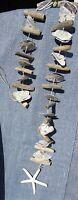 Treibholz-muschel-girlande seestern 115cmholzshabbybeachhousemaritimdeko