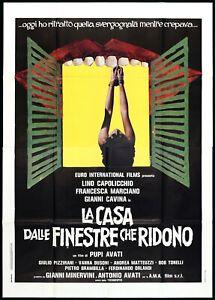 LA CASA DALLE FINESTRE CHE RIDONO MANIFESTO FILM PUPI AVATI 1976 MOVIE POSTER 4F