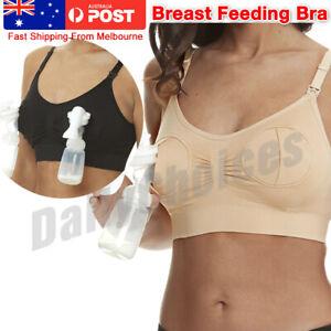 AU-Free-Breast-Feeding-Sexy-Hands-Pump-Pumping-Breastpump-Maternity-Nursing-Bra
