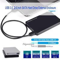 "USB 3.0 SATA External 2.5"" 4TB HD HDD SSD Hard Drive Enclosure Disk Case Box"