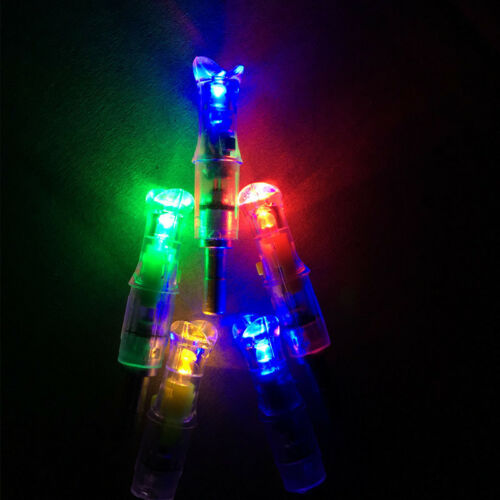 6pcs Lighted LED Arrow Nocks f// 297 to 302 ID 7.6mm Crossbow Bowstring Bolts
