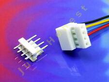 BUCHSENLEISTE+STECKER 4 polig/pins  GERADE  2.54mm HEADER Connector PCB #A803