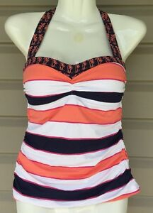 b0b9e962bf TOMMY BAHAMA RUGBY PALM HALTER SHIRRED TANKINI SWIM TOP MULTI XSMALL ...