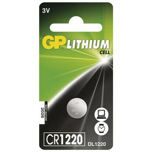 US BS277-1x GP CR1220 3V 40mAh lithium button cell battery 1 Piece