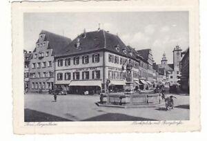 uralte AK Bad Mergentheim Marktplatz mit Burgstaße 1935 //48