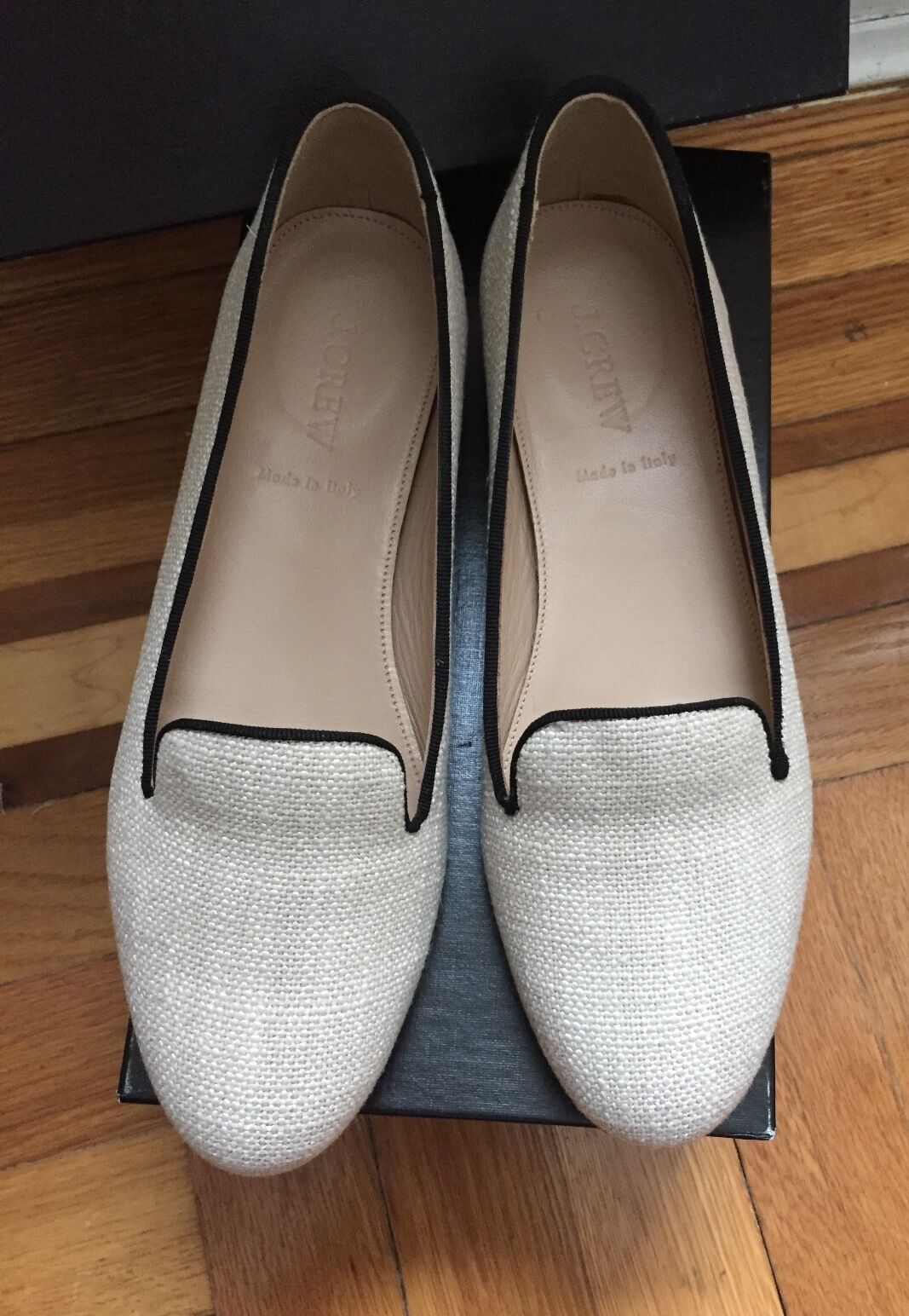 J Crew Damenschuhe Schuhes, Cleo Canvas Loafers, Vanila Farbe, Größe 7 (one time worn)