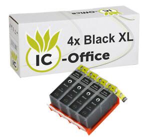 4-Cartouches-d-039-encre-Noir-HP-364-XL-pour-le-imprimante-Photosmart-5510