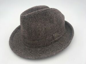 MENS-D-amp-Y-FEATHER-BAND-TRILBY-FEDORA-MULTICOLOR-PATTERN-HAT