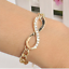 Charm-Girl-039-s-Crystal-Rhinestone-Gold-Silver-Plated-Chain-Bangle-Bracelet-Jewelry