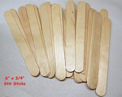 "Wavy Wood Fan Handles 8/"" Wavy Stirring Sticks Wooden 500 count"