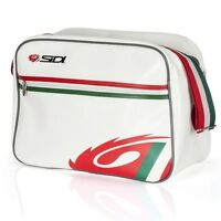 Sidi Casuals Luxe Flight Courier Satchel Bag Track Italian Flag Cream Off White