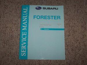 2009 subaru forester workshop manual