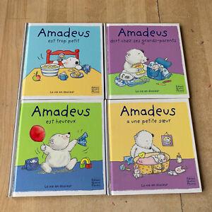 lot 4 livres série Amadeus - La vie en douceur / Editions Quatre Fleuves
