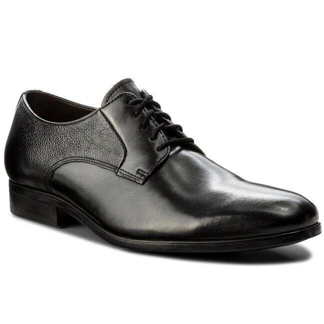 Homme Clarks Gilmore Dentelle En Cuir Noir Formel Lacets Chaussures Taille Uk 8 G