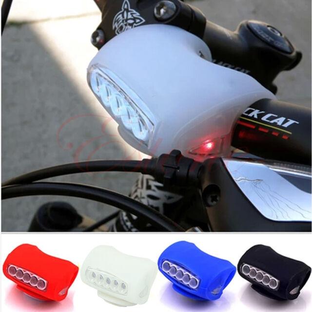 Vélo 7 grenouille LED de silicone avant de sécurité Lampe Avertissement phares