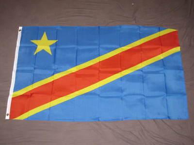 OLD DEMOCRATIC REPUBLIC OF THE CONGO FLAG 3x5 DRC F454