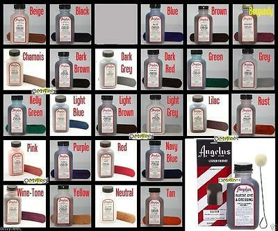 Angelus Suede Nubuck Dye Dressing 27 Colors 3 Oz With Licator 1 Bottle Ebay