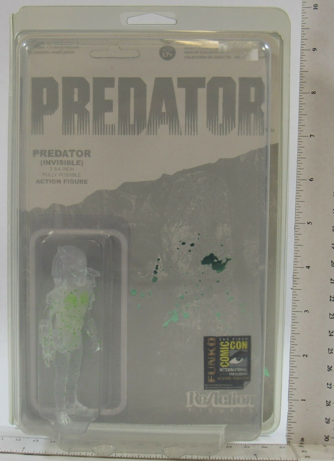 "PREDATOR GREEN BLOOD SPLATTER 3 3//4/"" Reaction Retro Figure SDCC Comic Con 2014"