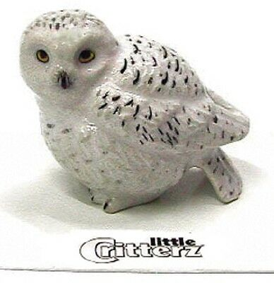 "LC127 - little Critterz - Snowy Owl named ""Ghost"" (Buy any 5 get 6th free!)"