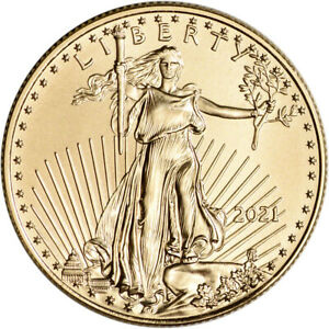 2021 American Gold Eagle 1/2 oz $25 - BU