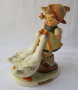 M-I-Hummel-Goebel-GOOSE-GIRL-Porcelain-Figurine-Germany-Mold-47-TMK-3SS