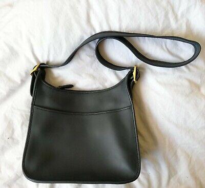 Genuine Vintage Coach blue leather saddle shouldercross body bag new condition | eBay