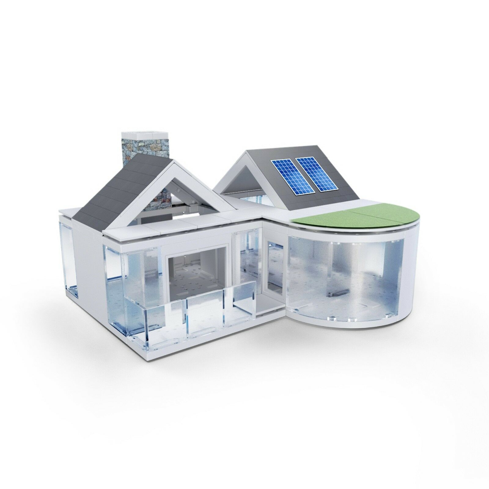 Details about GO Plus 2 0 - Kids Architectural Home Model Building Kit  (160+ Piece)