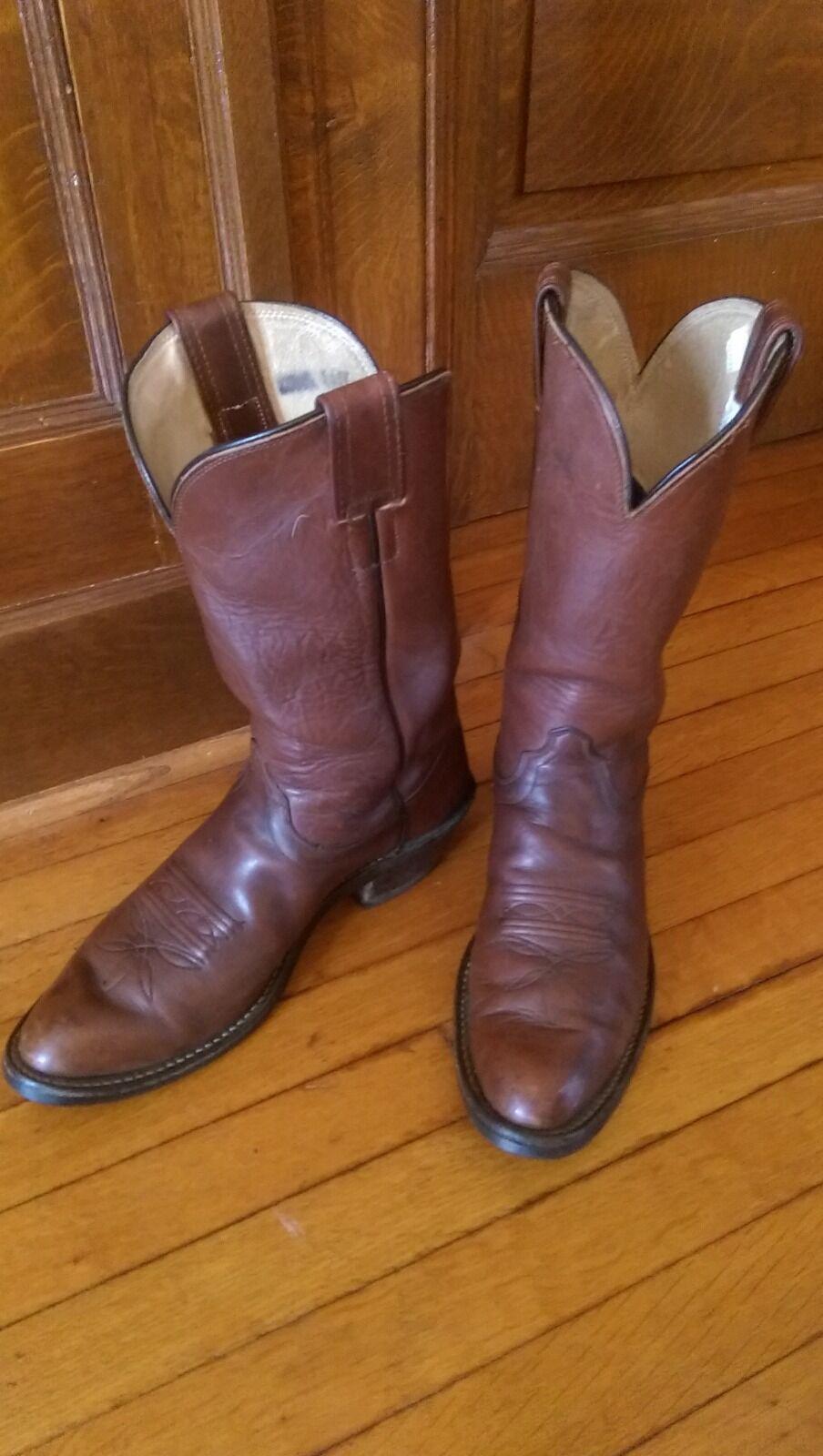 OLATHE braun leather Western Cowboy Cowboy Cowboy Stiefel 9.5 B 2dcd24