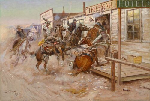 In Without Knocking Giclee Canvas Print Charles Marion Russell