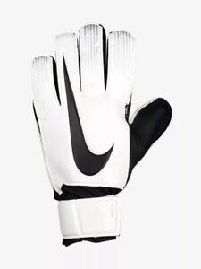 Nike-gardien-de-but-handschuche-Keeper-basiques-match-Goalkeeper-en-cuir-blanc