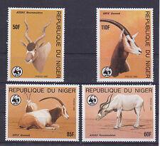 v1900 Niger/ WWF 1985  Antilopen   MiNr 941/44 **