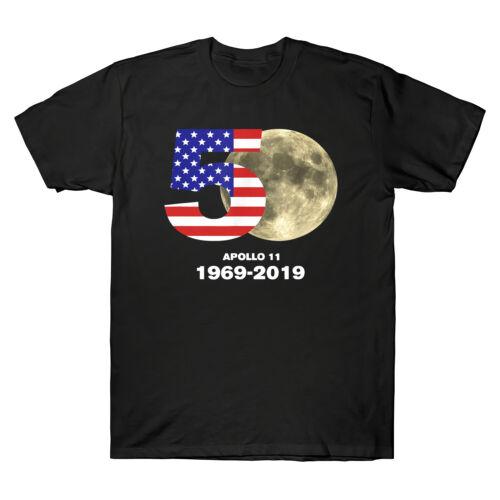 Apollo 11 USA 50th Anniversary Moon Landing 1969-2019 Men/'s T-Shirt Science Tee