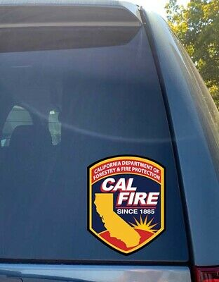 CAL FIRE California Department of Forestry and Fire Bumper Vinyl Decal Sticker