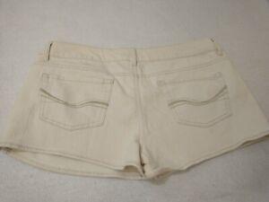 "American Heritage So Women's Denim Jean Shorts Size 13 Tan 34"" Waist Mid Rise"
