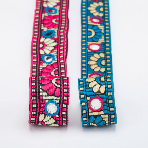 Neotrims Trimming Indian Mirror Work Ribbon by the Yard, Crafts Wholesale Online